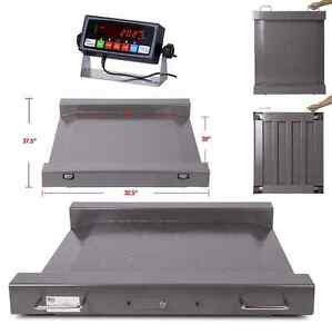 Ps 1000 Portable 1000lb 0 2lb Drum Wheel Chair Scale Indicator