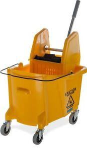 Carlisle 3690504 Commercial Mop Bucket With Down Press Wringer 35 Quart