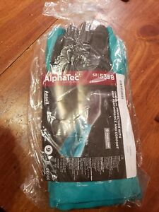 6 Pairs Of Ansell Alphatec Chemical Protection Gloves Size 9 58 535b