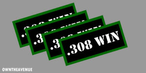 .308 WIN Ammo Can Labels for Ammunition Case 3.5