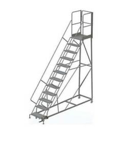 Industrial 12 Step Rolling Ladder