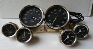 Smiths Replica 52mm Kit Oil Temp Oil Fuel Amp Speedometer tacho 100mm