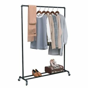 Clothing Racks Heavy Duty Garment Racks Clothes Vintage Rolling Ballet Rack New