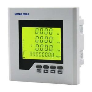 3 phase lcd display current voltage multifunction energy power Panel meter