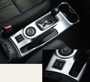 For Mitsubishi Outlander 2013 2016 Abs Chrome Water Cup Holder Gear Shift Trim