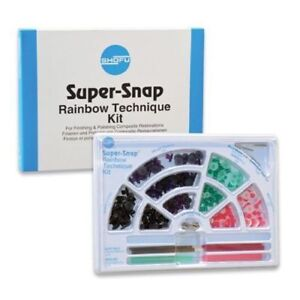 Shofu Super snap Rainbow Technique Kit Disk Mini Disk Poly strips Stone