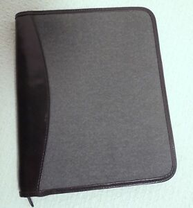 Levenger Junior Zippered Folio With Tab Dividers And Discs