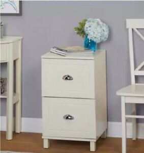 File Cabinet Vertical Filing 2 Drawer Cabinets White Wood Hanging Organizer
