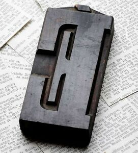 Letter Superb Wood Type 4 92 Woodtype Font Letterpress Printing Block