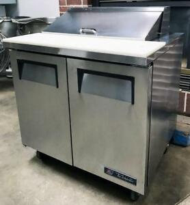 2014 True Tssu 36 08 36 w 2 door Restaurant Bakery Sandwich Salad Prep Table
