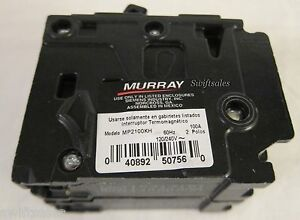 Murray Type Mp ht Mp2100kh 22k air Double Pole 100a Plug on Circuit Breaker New