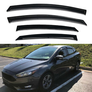 For 2012 2018 Ford Focus Window Visor Rain Guards Vent Shade Wind Deflectors 4pc