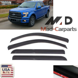 Smoke Window Visor Sun Guard For 2015 2018 Ford F 150 F150 Supercab Extended Cab