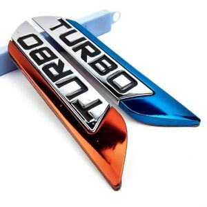 1x Funny Metal 3d Car Stickers Decal Fender Body Turbo Logo Emblem Badge Sticker