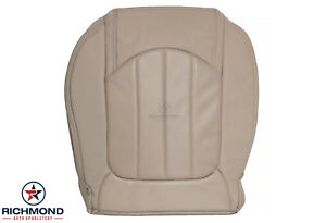 2011 2012 Gmc Acadia Denali Driver Side Bottom Perforated Leather Seat Cover Tan