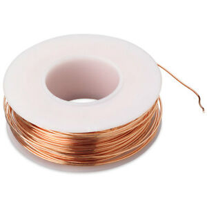Bare Copper Wire 22 Awg 4 Oz Spool 125 Feet Diameter 0 025