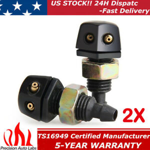 2x Windshield Washer Wiper Spray Nozzle Front For Chrysler Dodge Ford Gmc Chevry