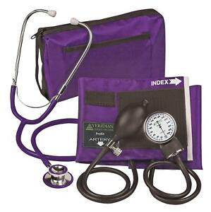 Veridian 02 12711 Aneroid Sphygmomanometer With Dual head Stethoscope Kit