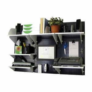 Wall Control Office Wall Mount Desk Storage And Organization Kit Black