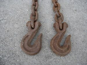 19 Heavy Duty Logging Chain W 2 Grab Hooks
