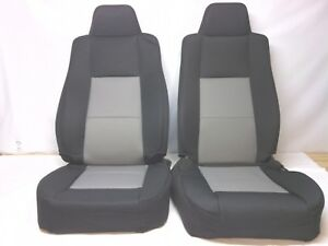 2006 09 Oem Ford Ranger Black With Gray Cloth Seat Covers For Sport Buckets
