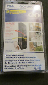 Square D Circuit Breaker Qo120gfic Single Pole 20 Amp