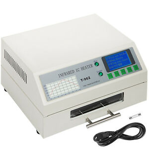 T962 Reflow Oven Accurate Temperature Micro computer Setup Thermal Cycles 800w