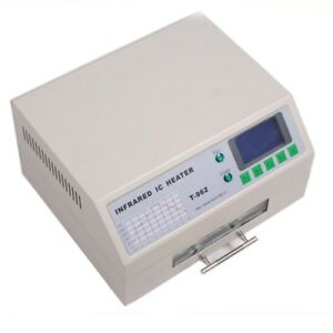 T962 Reflow Oven Thermal Cycles 800w Clear Lcd Display Exhaust Fan Included