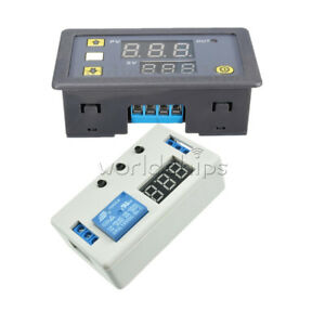 12v Led Automation Timer Control Switch Dual Display Delay Relay Module W case