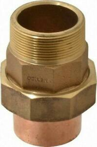 Nibco 733 4 Cast Bronze 2 C X Mnpt Solder Pressure Copper Pipe Union 7334 2