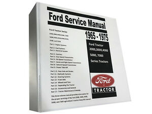 4000 Ford Tractor Technical Service Shop Repair Manual Huge 913 Page Book