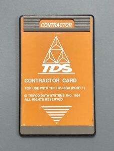 Tds Survey Contractor Card For Hp 48gx Calculator
