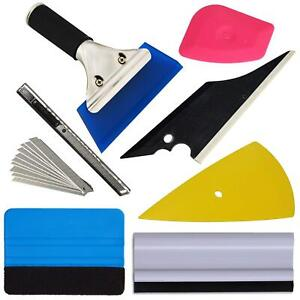 8pcs Car Window Film Tint Vinyl Wrap Tools Squeegee Scraper Set Tinting Install