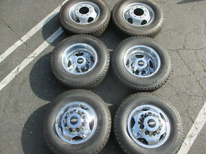 2011 2018 Chevy 3500 Dually Factory 17 Wheels Tires Rims Oem 5519 5520 Michelin