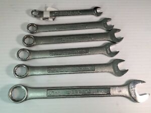 Craftsman 6pc Metric Combination Wrench Lot 9mm 11mm 13mm 14mm 17mm 12pt