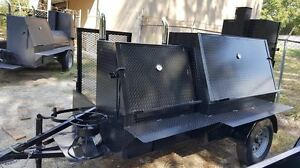 Grill Master Bbq Pro Smoker Grill Trailer Food Mobile Kitchen Catering Business