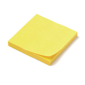 Self sticking Sticky Notes pads 3 X 3 144ct Classic Canary yellow