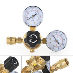 Argon Co2 Gas Mig Tig Welding Flow Meter Regulator Pressure Control Gauge