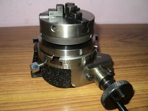 Horizontal Vertical 3 75mm Rotary Table 65mm 3 Jaw Chuck For Milling Machine