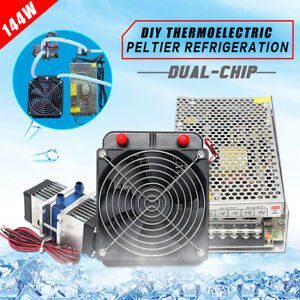 Thermoelectric Peltier Refrigeration Cooler pump water Cooling power Supply Kit