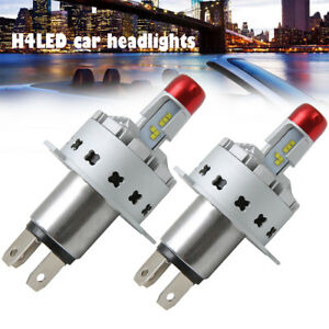 2pcs H4 High Power Led Headlights Bulbs Car Headlight Bulb Beam Kit 45w Globe