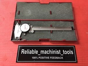 American Made Starrett 6 Dial Caliper Carbide Jaw Model 120x Machinist Tools