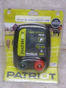New Patriot Pe10 Electric Fence Charger Energizer 10 Miles 40 Acres 120 Volt