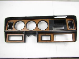1981 1993 Dodge Ram Pickup Instrument Cluster Dash Trim Bezel Woodgrain