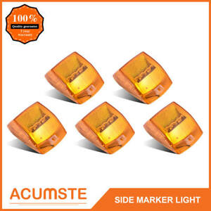 5x 5 17led Amber Roof Top Cab Marker Clearance Lights For Kenworth Truck Pickup