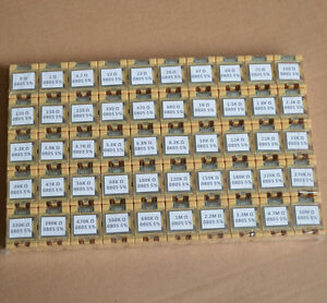 5000pcs 50 Value 0805 2 0x1 2mm Smd Resistor Box Kit 0r 10mr 5 1 8w New