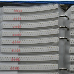 Smd Resistor Kit Sample Book 0805 1 8w 1 175 Values 50 Pcs value 8750pcs In All