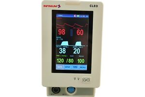 Fda Cleo Patient Monitor Etco2 Co2 Spo2 Suntech Nibp Covidien Temp With Stand
