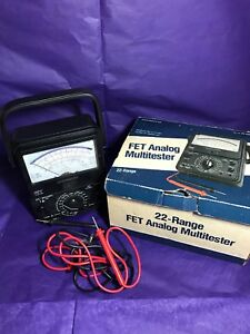 Micronta 22 220a Fet Analog Multitester 22 Range With Leads Box