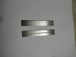 Starrett 4 Grad Grooved Rule Two 2 4 Rules New